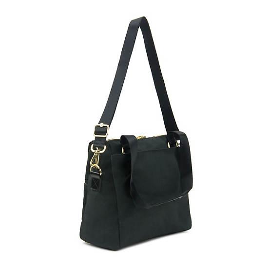 Catelyn Handbag,Black Crosshatch,large