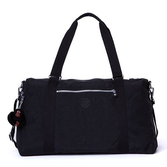 Itska Solid Duffle Bag,Black,large