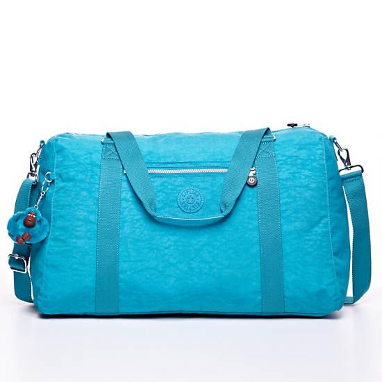 Itska Solid Duffle Bag,Turq Blue,large