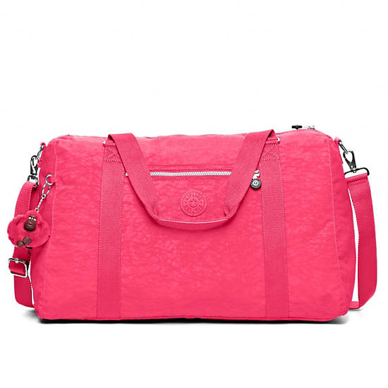 Itska Solid Duffle Bag,Vibrant Pink,large