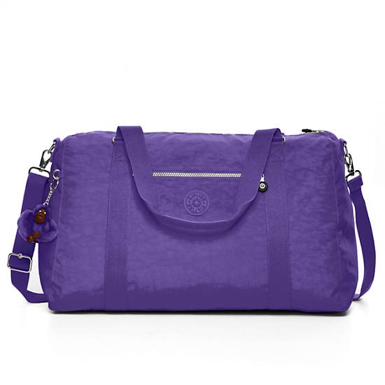 Itska Solid Duffle Bag,Inlet Purple,large