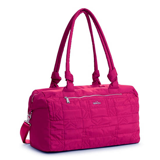 Val XL Quilted Duffle,Spring Red,large