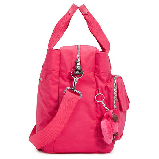 New Diaper Bag,Vibrant Pink,large