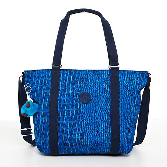 Adara Medium Tote,Skyler Blu Croc,large