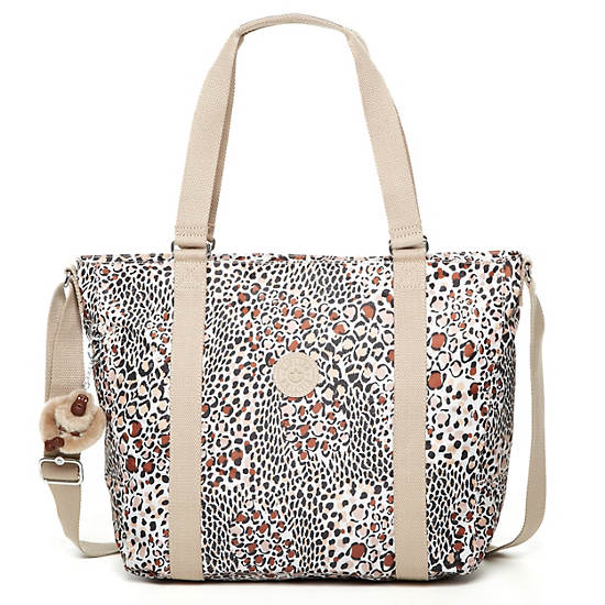 Adara Medium Tote,Leopard Prin,large