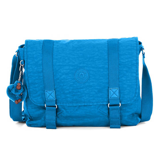 Aleron Messenger Bag,Azure Blue,large