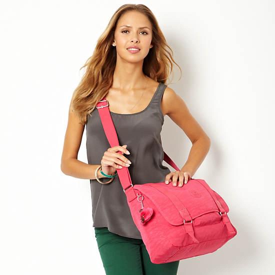 Aleron Messenger Bag,Vibrant Pink,large
