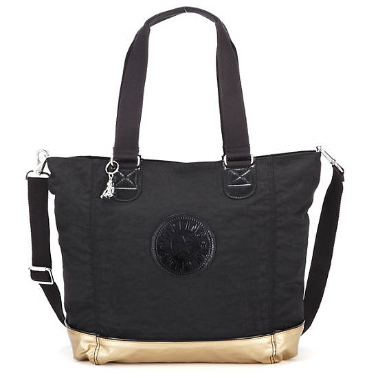 Shopper Combo Tote,Black Combo,large