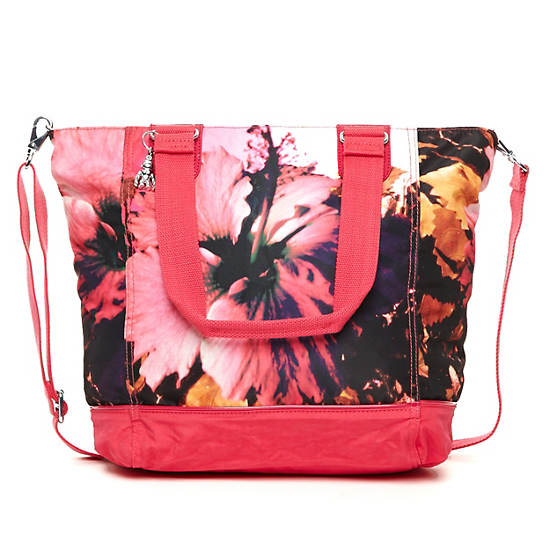 Shopper Combo Printed Tote,Peony Combo,large