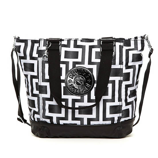 Shopper Combo Printed Tote,Maze Combo,large