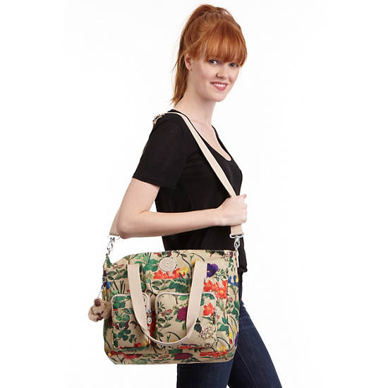 SADY PRINTED  TOTE BAG,Frond Neutral,large