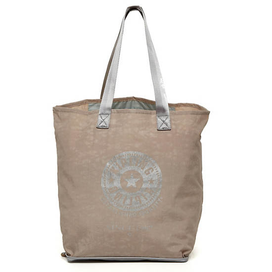 Hip Hurray Foldable Tote Bag,Caffelatte,large