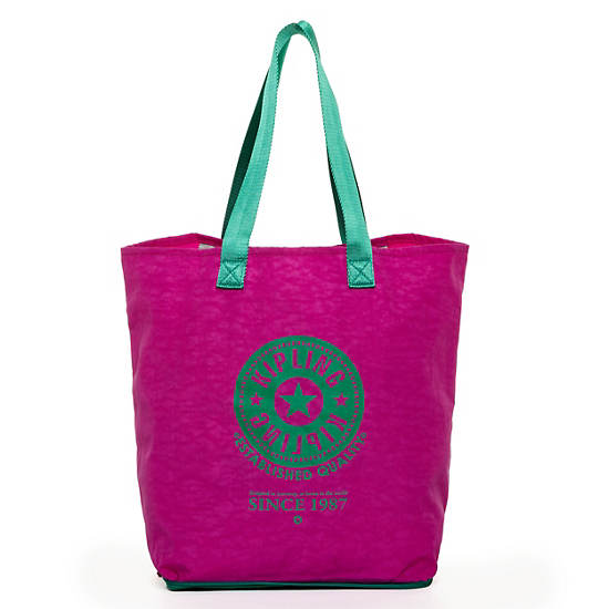 Hip Hurray Foldable Tote Bag,Orchid Cactus,large