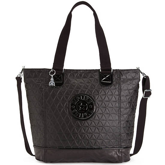 Shopper Quilted Tote,Rio Vine,large