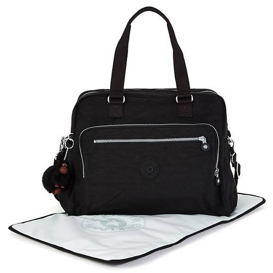 Alanna Diaper Bag,Black,large