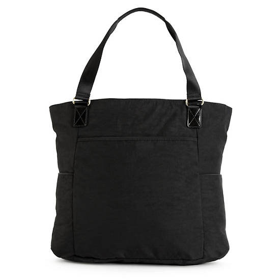 Leah Tote Bag,Black Patent Combo,large