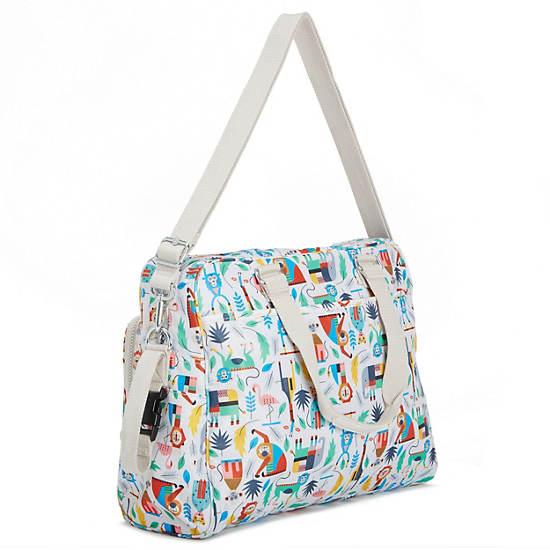 Alanna Printed Diaper Bag,Bundle Of Love,large