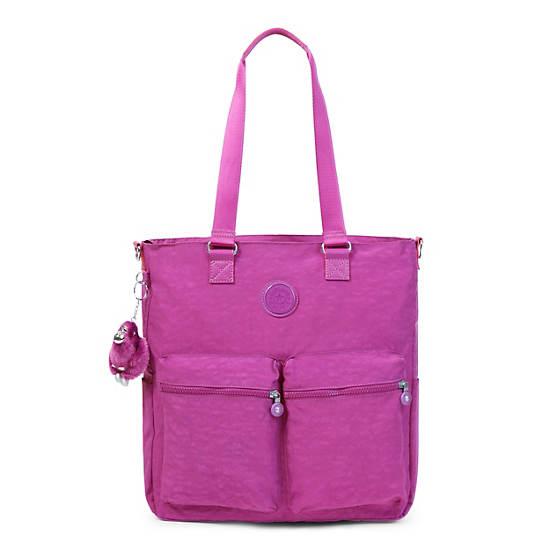 Relanna Laptop Tote Bag,Purple Garden,large