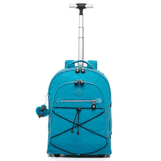 Sausalito Rolling Backpack,Turq Blue,large