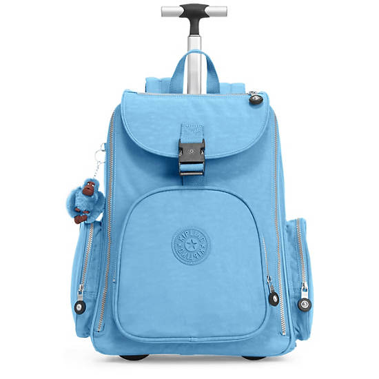 Alcatraz Ii Wheeled Laptop Backpack Blue Grey Kipling