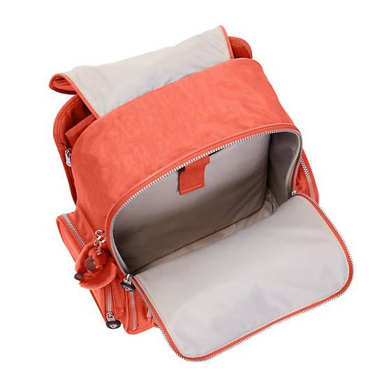 Alcatraz Ii Rolling Laptop Backpack Cool Orange Kipling