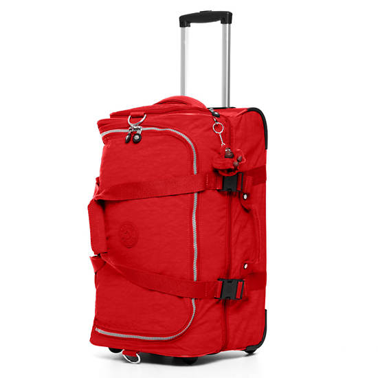 Teagan Small Wheeled Duffel,Red,large