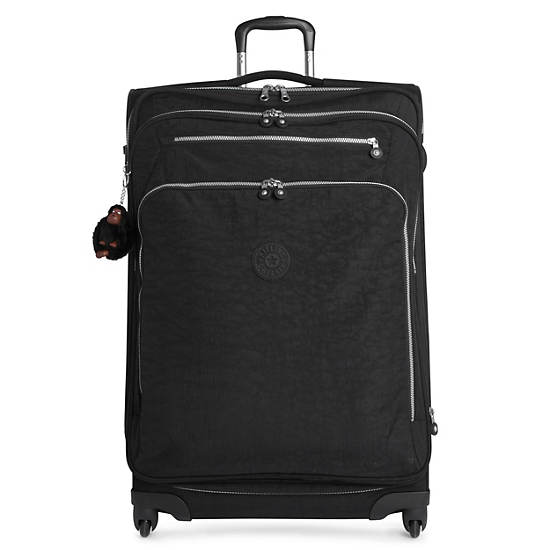 Florida Lite Large Expandable Luggage,Black,large