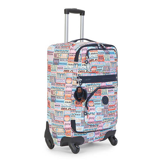 Darcey Small Printed Rolling Luggage,Hello Weekend,large