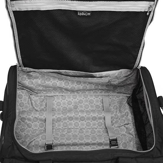 Discover Small Carry-On Wheeled Luggage Duffle,Black,large