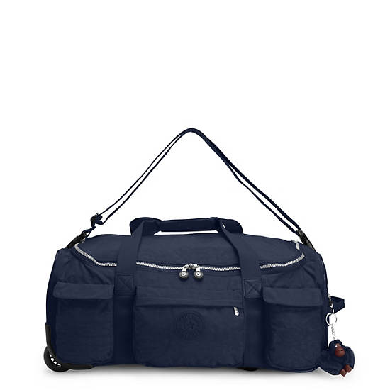 Discover Small Wheeled Luggage Duffle,True Blue,large