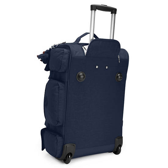 Discover Small Carry-On Rolling Luggage Duffle,True Blue,large