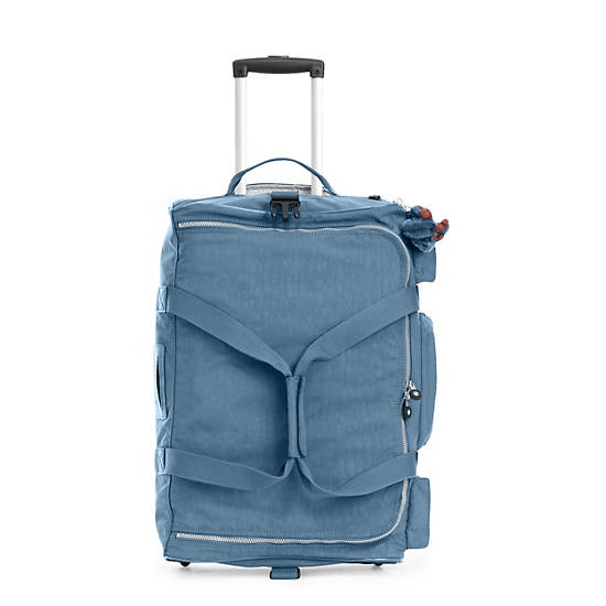 Discover Small Carry-On Rolling Luggage Duffle,Blue Bird,large