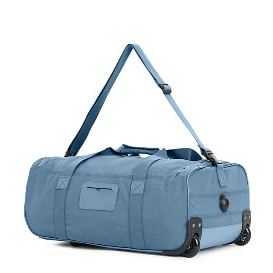 Discover Small Wheeled Luggage Duffle,Blue Bird,large