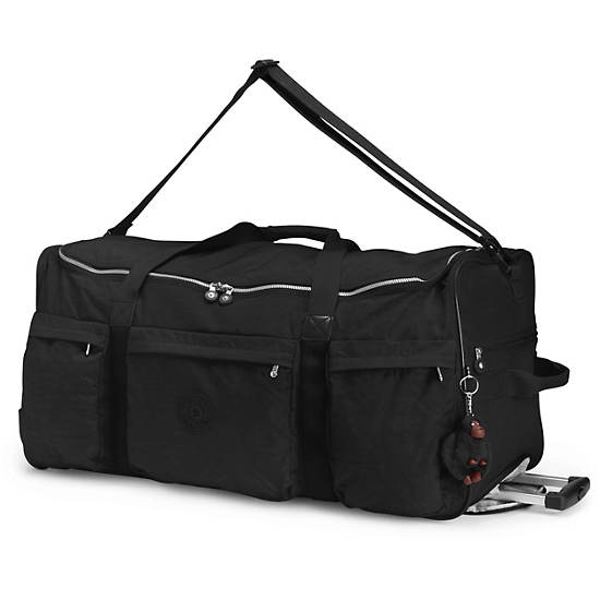 Discover Large Rolling Luggage Duffle,Black,large