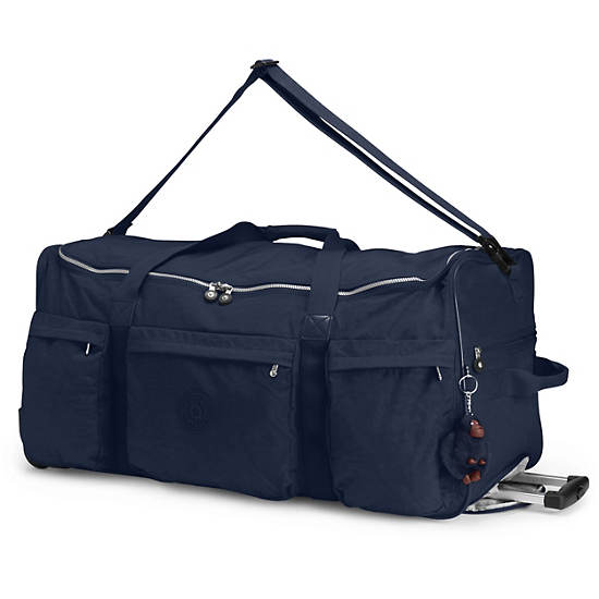 Discover Large Rolling Luggage Duffle,True Blue,large