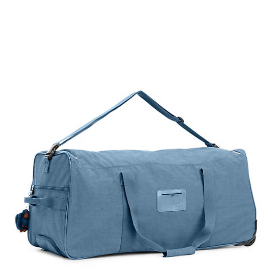 Discover Large Rolling Luggage Duffle,Blue Bird,large