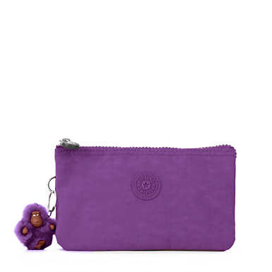 Creativity Large Pouch - Purple Feather