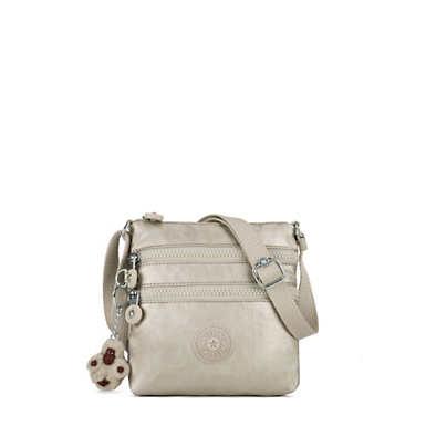 키플링 Kipling AlvarExtra Small Metallic Mini Bag,Cloud Grey Metallic