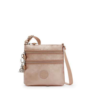 키플링 Kipling AlvarExtra Small Metallic Mini Bag,Rose Gold Metallic