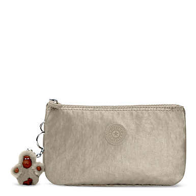 Creativity Metallic Large Pouch - Metallic Pewter