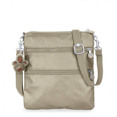 Rizzi Metallic Convertible Mini Bag - Metallic Pewter