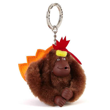 Thanksgiving Monkey Keychain - Multi