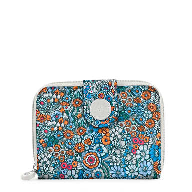 New Money Printed Wallet - Loopy Flowers