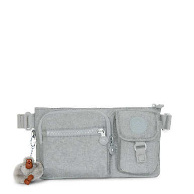 Presto Convertible Metallic Belt Bag - Silver Glimmer Metallic