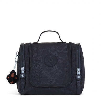 Connie Printed Hanging Toiletry Bag - Black Croc