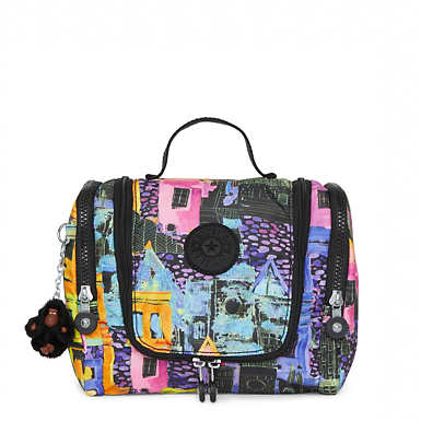 Connie Printed Hanging Toiletry Bag - undefined