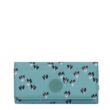 New Teddi Printed Snap Wallet - Fan Florals