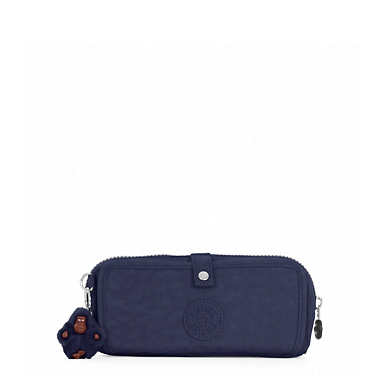 Wolfe Roll-Up Pencil-Makeup Pouch - True Blue