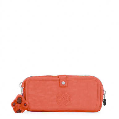 Wolfe Roll-Up Pencil-Makeup Pouch - Blood Orange