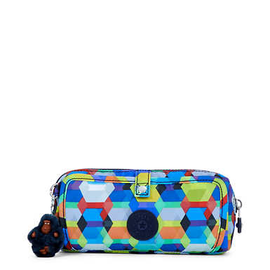 Wolfe Roll-Up Pencil-Makeup Pouch - Cheerful Sun